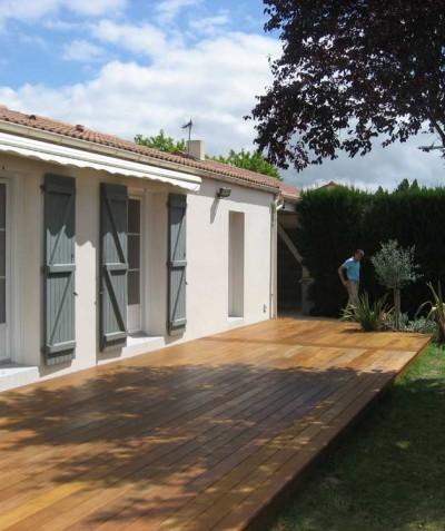 Terrasse en bois paysagiste 44 - ADJ Espaces Verts - Saint Mars de Coutais, près de Bouaye