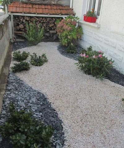 Création d'un jardin à Saint Mars de Coutais, près de Bouaye - 44 : Paysagiste, ADJ Espaces Verts