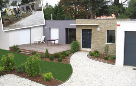 Création de jardin Saint Mars de Coutais 44 et environs par ADJ Espaces Verts