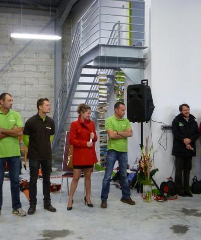 Inauguration ADJ Espaces Verts 44 - Nouveau bâtiment fin 2013 à Saint Mars de Coutais